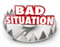 Bad Situation 3d Words Bear Trap Trouble Problem Issue Stock Photos - 56537853