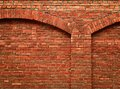 Brick Wall With Arch Royalty Free Stock Photo - 56538435
