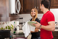 Doing The Dishes Together Stock Images - 56549574
