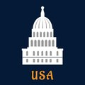 United States Capitol Flat Symbol Royalty Free Stock Photo - 56582935