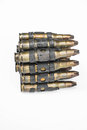 Old Machine Gun S Bullets On White Background Royalty Free Stock Photo - 56590315