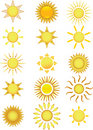 Sun Icons. Vector Illustration Royalty Free Stock Photography - 5663467