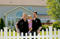 Family In Their Backyard Royalty Free Stock Photography - 5666807