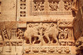 Indian Elephants And Patterned Details Of Bas-relief Stock Photo - 56602690