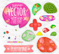 Set Of Plasticine Sings Royalty Free Stock Photography - 56605457
