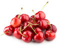 Juicy Cherries Isolated On The White Background Royalty Free Stock Photos - 56607788
