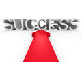 Big Red Arrow Pointing To SUCCESS Word Royalty Free Stock Photos - 56617568
