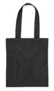 Black Fabric Bag On White Royalty Free Stock Photography - 56621317