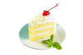 White Cake Delicious, Vanilla Cake Topping With White Chocolate Royalty Free Stock Photo - 56670135
