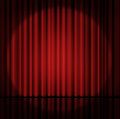 Curtain Or Drapes Red Background Stock Photos - 56670223