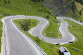 Sharp Turns On A Mountain Road Stock Image - 56673661