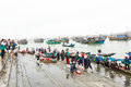 Fish Market On The Beach In Quang Binh Province, Vietnam Royalty Free Stock Images - 56677399