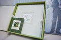 Green And White Leather Wedding Photo Book Stock Photos - 56678943