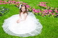 Adorable Smiling Little Girl In Princess Dress Royalty Free Stock Images - 56688839