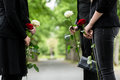 Family In Guard Of Honor At Funeral Stock Photo - 56707930