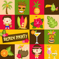 Square Hawaii Luau Royalty Free Stock Images - 56712949