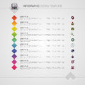 Flat Colorful Abstract Timeline Infographics Vector Illustration With Squares Royalty Free Stock Image - 56720036