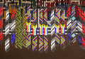African Ethnic Handmade Beads Colorful Ties. Flag Of South Africa. Stock Images - 56721364