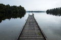 Wooden Pier On The Lake Royalty Free Stock Photos - 56721938