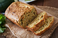 Zucchini Bread With Cheese Royalty Free Stock Image - 56722156