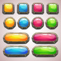 Set Of Cartoon Colorful Buttons Stock Images - 56727194