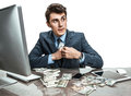 Government Official Stealing Money Royalty Free Stock Photography - 56729247