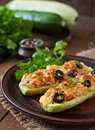 Stuffed Zucchini With Chicken Royalty Free Stock Photography - 56731827