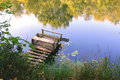 Fishing Place On River Royalty Free Stock Photo - 56733925