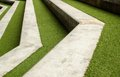 Stairway With Green Artificial Grass Royalty Free Stock Images - 56760259