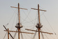 Masts Of A Pirate Ship Stock Image - 56775241