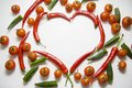 Chilli With Tomatoes And Okra Royalty Free Stock Images - 56776159