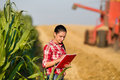 Woman Agronomist In Wheat Field Royalty Free Stock Photo - 56778525