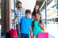 Happy Family Having Fun In The Mall Royalty Free Stock Images - 56804809