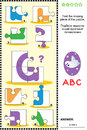 ABC Learning Educational Puzzle With Letter G Stock Image - 56807891