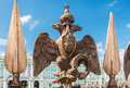 Double-headed Eagle In The Imperial Crown On The Fence Of The Al Royalty Free Stock Images - 56837079
