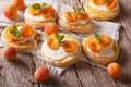 Apricot Cake With Sweet Cream Close-up On The Table. Horizontal Stock Photo - 56841650