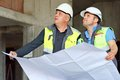 Civil Engineer And Senior Foreman At Construction Site Stock Photography - 56841762