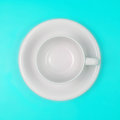 Empty White Coffee Or Tea Cup On Vibrant Color Background Stock Photography - 56849552