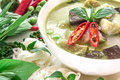 Green Curry Creamy Coconut Milk With Chicken , Popular Thai Food Stock Photography - 56849782