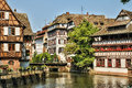 Old Houses In The District Of La Petite France In Strasbourg Royalty Free Stock Photo - 56853215