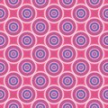 Seamless Pattern With Blue And White Circles On Pink Background. Stock Photos - 56855283