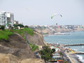 Stock Photo - Shot Of The Green Coast Beach In Lima-Peru Stock Photo - 56867670