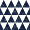 Watercolor Night Sky Triangles Seamless Vector Pattern. Royalty Free Stock Image - 56882116