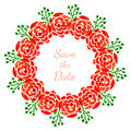 Floral Decoration With Roses. Vector Watercolor Wreath. Design For Invitation, Wedding Or Greeting Cards Stock Image - 56886161