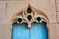 Ornate Stonework Over An Old Door Royalty Free Stock Photography - 56891137