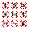 No Selfies, No Selfie Sticks  Signs Stock Images - 56895204