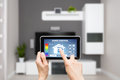 Remote Home Control System On A Digital Tablet. Stock Photo - 56900630