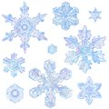 Watercolor Snowflakes Royalty Free Stock Photo - 56918235
