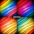 Set Of Colorful Abstract Backgrounds. Stock Photography - 56919732