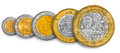 Mexican Peso Coin Line Royalty Free Stock Image - 56919936